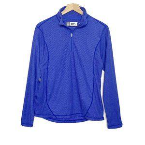 Alpine Design Blue Striped 1/4 Zip Sweatshirt
